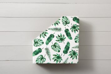 Tropical Leaves File and Book Holder