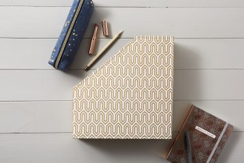 Gold Geometric File and Book Holder