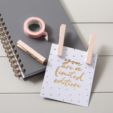 Glitter Magnetic Photo Pegs – Pale Pink