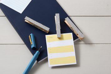 Silver Glitter Note Holders