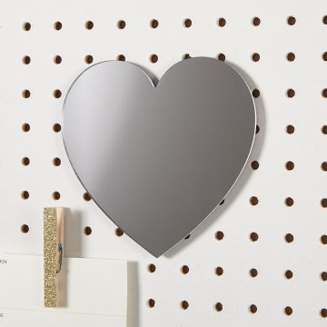 Heart Mirror with Magnetic Backing