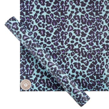 Starter Pack of Blue Leopard Wallpaper with Magnets