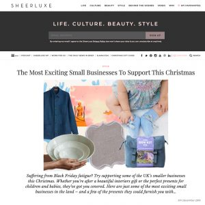 We've been featured by SheerLuxe!