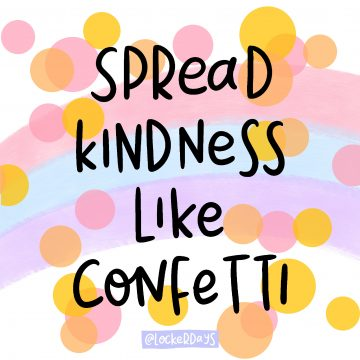 Spread Kindness Like Confetti Locker Card