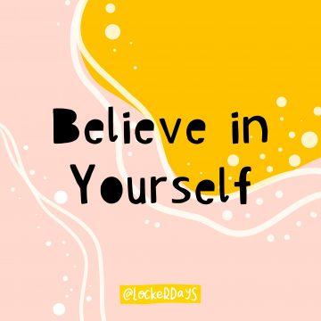 Believe in Yourself Locker Card