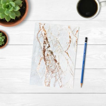 Rose Gold Marble Notebook